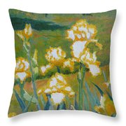 Iris Etude Throw Pillow