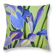 Iris Fields - Center Panel Throw Pillow