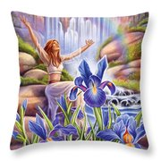 Iris - Fine Tune Throw Pillow