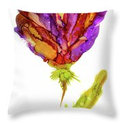 Iris Flower 2 Throw Pillow