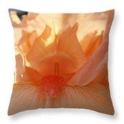 Iris Flower Art Prints Sunlit Orange Irises Baslee Troutman Throw Pillow
