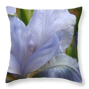 Iris Flower Blue 2 Irises Botanical Garden Art Prints Baslee Troutman Throw Pillow