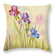 Iris Garden Ll Throw Pillow