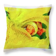 Iris In Abstract Throw Pillow