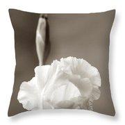 Iris In Black And White Throw Pillow