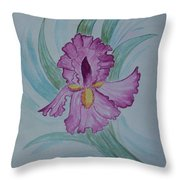 Iris In Lavender Throw Pillow