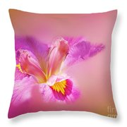 Iris In Mist Throw Pillow