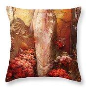 Iris In The Garden Of The Sun Throw Pillow