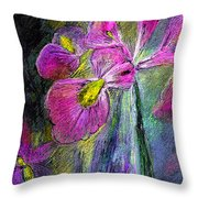 Iris In The Night Throw Pillow