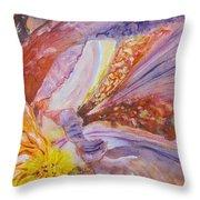 Iris Intricacies Throw Pillow