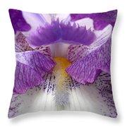 Iris Lashes Throw Pillow