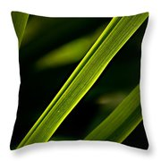 Iris Leaves Throw Pillow
