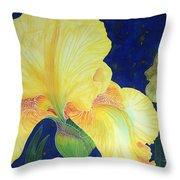 Iris Miami Beach Throw Pillow