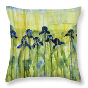 Iris On Parade Throw Pillow