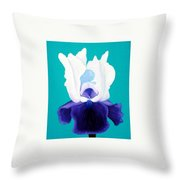 Iris Passion Throw Pillow
