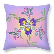 Iris Pinwheel Throw Pillow