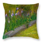 Iris Procession Throw Pillow