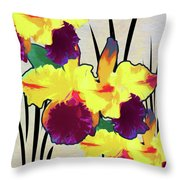 Iris Shadow Throw Pillow