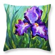 Iris Solo Throw Pillow