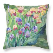 Iris Spring Throw Pillow
