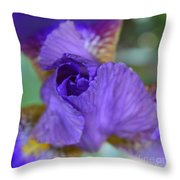Iris Square Throw Pillow