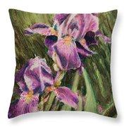 Iris Twins Throw Pillow