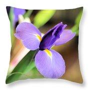 Iris Unfolding IIi Throw Pillow