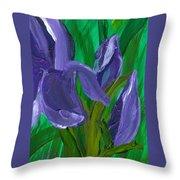 Iris Up Close And Personal Throw Pillow