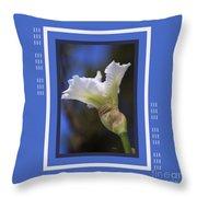 Iris White With Design Throw Pillow