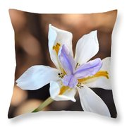 Iris Wide Open Throw Pillow