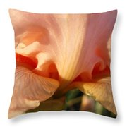 Irises Art Prints Orange Peach Iris Flower Giclee Baslee Troutman Throw Pillow