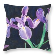 Irises Throw Pillow