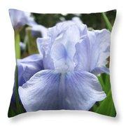 Irises Light Blue Artwork Iris Flowers Baslee Troutman Throw Pillow