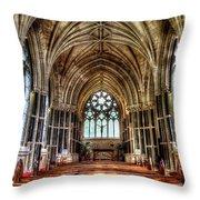 Irish Abbey Throw Pillow