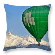 Irish Balloon Throw Pillow