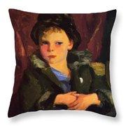 Irish Boy 1898 Throw Pillow