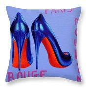 Irish Burlesque Shoes Throw Pillow
