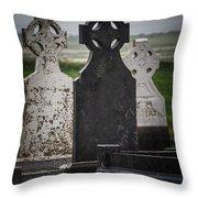 Irish Cemetery P7010429 Throw Pillow