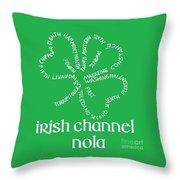 Irish Channel Nola Throw Pillow