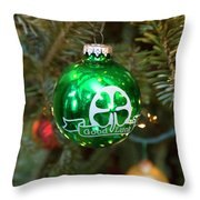 Irish Christmas Throw Pillow