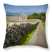 Irish Church Ruins Throw Pillow