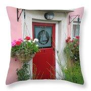 Pink Irish Home Throw Pillow