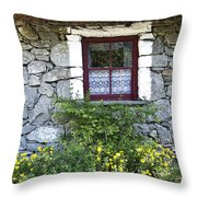 Irish Cottage Window County Clare Ireland Throw Pillow