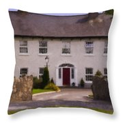 Irish Country Estate Riverstown Ireland Throw Pillow
