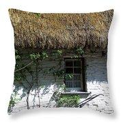 Irish Farm Cottage Window County Cork Ireland Throw Pillow
