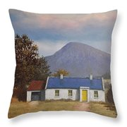 Irish Farmhouse Near Croagh Patrick Throw Pillow