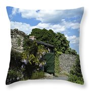 Irish Garden County Clare Throw Pillow
