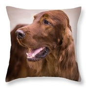 Irish Girl Throw Pillow