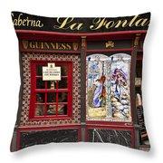 Irish Pub In Spain Throw Pillow