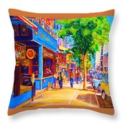 Irish Pub On Crescent Street Throw Pillow